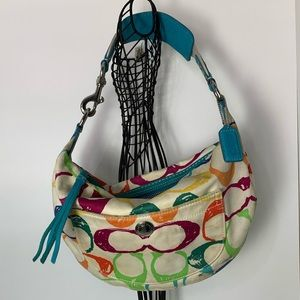 Coach Scribble Hobo 5657 Multi Color